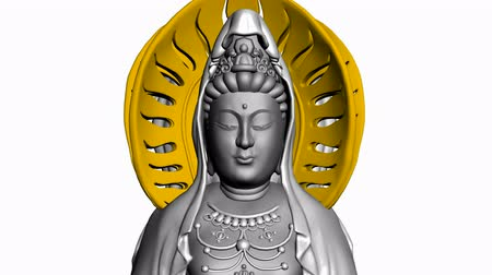 божество : Moving of 3D Guanyin Buddha Sculpture.religion,statue,goddess,female,pray,culture,chinese,china,belief,asia,
