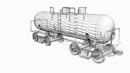 Rotation du train 3D tank.Tanker,locomotive,Oiltank,railroad,train,transportation,travel,passenger,Grid,mesh,sketch,structure,