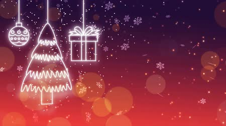 vánoční koule : Glowing christmas decoration looping animation background