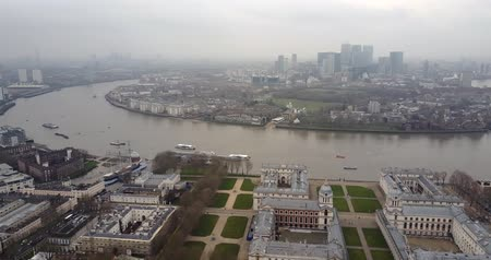 greenwich : Aerial view of Cutty Sark and river Thames in Greenwich