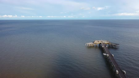 Aerial view of Deal pier, Deal, Kent, UK