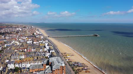 Aerial view of Deal castle, Deal, Kent, UK