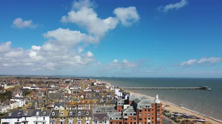 Aerial view of Deal town, Deal, Kent, UK