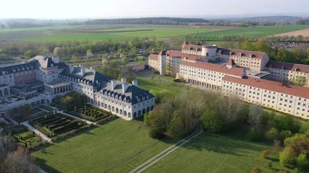 Panoramic aerial view of buildings Magny-le-Hongre
