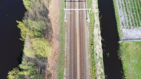 Aerial view of railway tracks, Holland