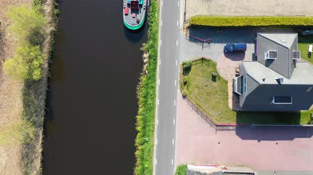 Aerial view of the canal in Holland