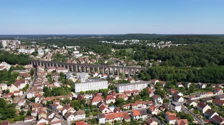 Aerial view of La Butte Montceau, France