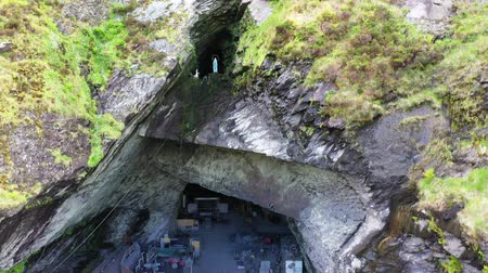 pedreira : Old Slate Quarry and Grotto with statue of the Virgin Mary, Valentia Island, Ireland