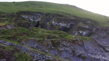 lom : Old Slate Quarry and Grotto with statue of the Virgin Mary, Valentia Island, Ireland