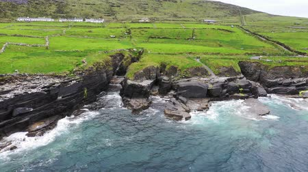donuk : Beautiful aerial view of Valentia Island. Locations worth visiting on the Wild Atlantic Way. Scenic Irish countyside on a dull spring day, County Kerry, Ireland.