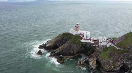 gyrophare : Vue aérienne de Baily Lighthouse, Howth North Dublin