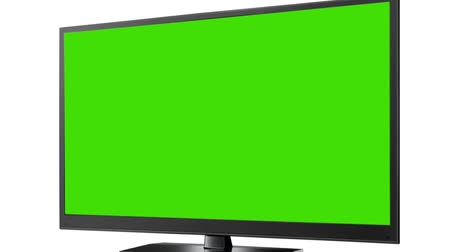 tv screen : Big tv lcd monitor with green backcloth