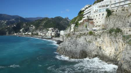 costa : Best view of the coast of Maiori in Amalfi coast, Italy. Vídeos