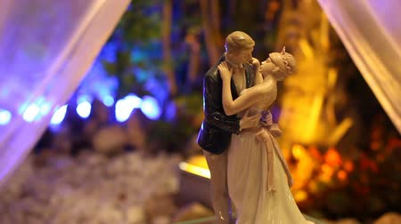 Cake Topper on wedding cake.