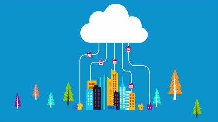 fazer upload : Animation of working mechanism of cloud system technology with end users. Vídeos