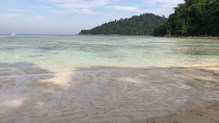Ocean shore on Koh Surin Island, Thailand, south-east Asia