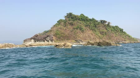 View from boat to island, Ngapali, Myanmar