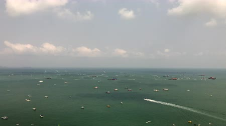 waters : Boat movement in the water area of ??Pattaya, Thailand