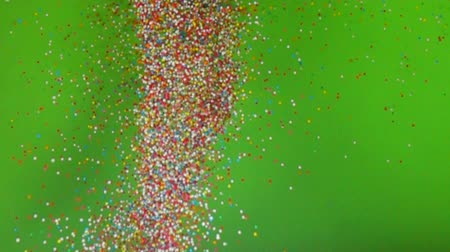 посыпать : Colorful of sugar ball in slow motion abstract background