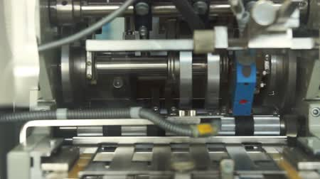 makineleri : Packaging machine on the pharmaceutical factory Stok Video