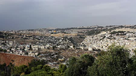 sepulcher : Panorama the old city Jerusalem the Temple Mount Moria