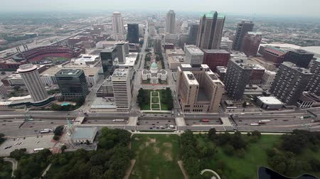 святой : View of St. Louis from the Top of the Gateway Arch