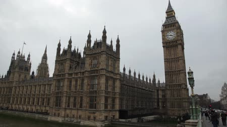 theems : Big Ben in Londen Stockvideo