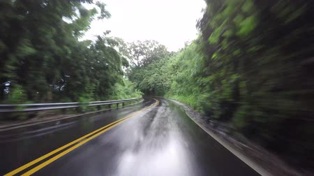 обмотка : POV car driving in Maui Hawaii