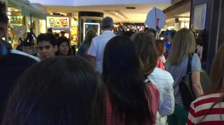 POV shot of Christmas eve shopping sales in Alto Palermo mall December 2017