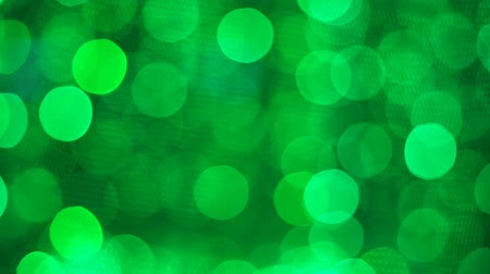 tecnológica : abstract bokeh green light shiny sparkling decoration of celebration background Stock Footage