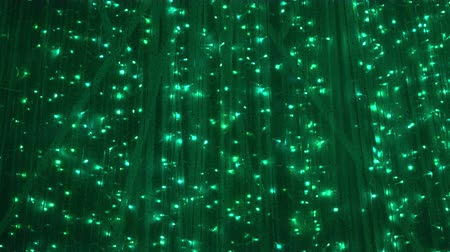 húr : green light shiny sparkling decoration of festive celebration Stock mozgókép