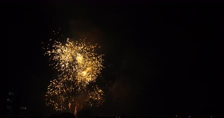 pirotecnia : Firework show in the festival of holiday