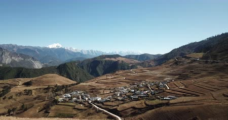 tibeti : Aerial view Yunnan province China.