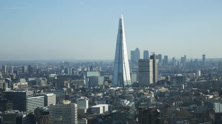 egyesült : LONDON, UNITED KINGDOM  25 JANUARY 2016: Aerial view of The Shard Building and London city in United Kingdom