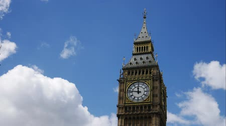 big ben : Timelapse of Big Ben on Sunny Day, London, UK