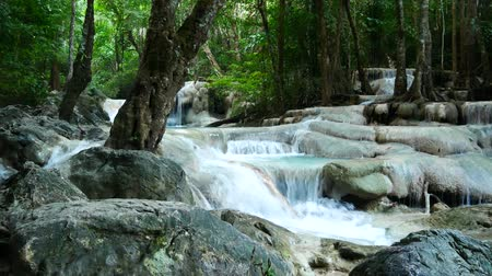 Канчанабури : Deep forest waterfall in Thailand (Erawan Waterfall)