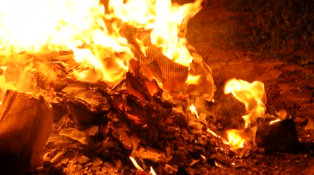 maszat : Fire burning paper