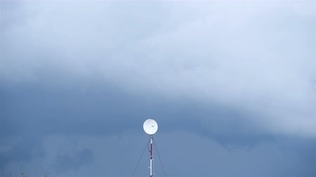 hickory : Weather forecast antenna in the storm outdoors Stock Footage