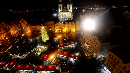 cseh : Prague Old Town main square at night