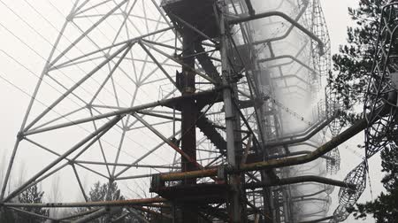 baleset : Duga Antenna Complex in Chernobyl Exclusion zone 2019 Stock mozgókép