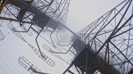 Duga Antenna Complex in Chernobyl Exclusion zone 2019 Стоковые видеозаписи