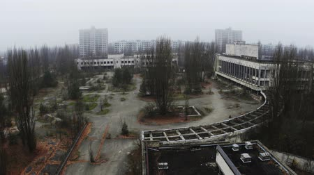 chernobyl : Abandoned city of Pripyat 2019 in ruins