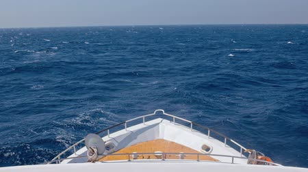 vessels : Yacht heading toward the horizon on the sea
