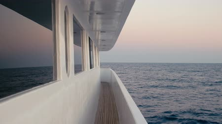 vessels : Corridor of luxury yacht