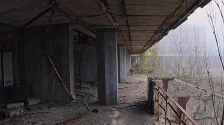 çevre kirliliği : Abandoned city of Pripyat 2019 Stok Video