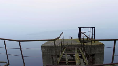 pantanal : Damaged pier in the mist at morning