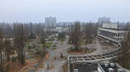 chernobyl : Abandoned city of Pripyat 2019 Stock Footage