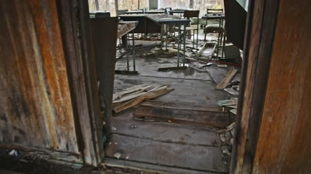 chernobyl : Abandoned Classroom in School number 5 of Pripyat, Chernobyl Exclusion Zone 2019