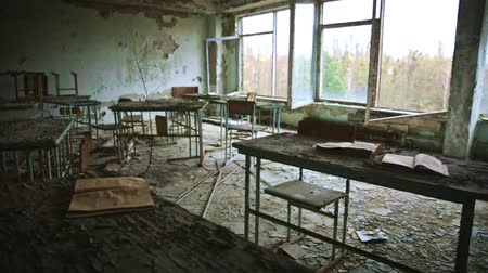 dark desolate : Abandoned Classroom in School number 5 of Pripyat, Chernobyl Exclusion Zone 2019