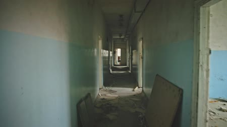 chodba : Abandoned corridor in Pripyat Chernobyl Exclusion Zone